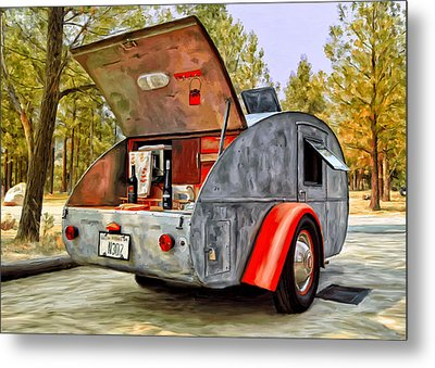 Time For Camping Metal Print by Michael Pickett