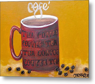 Time For Coffee Metal Print by Melissa Torres