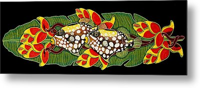 Metal Print featuring the painting Time For Dinner by Debbie Chamberlin