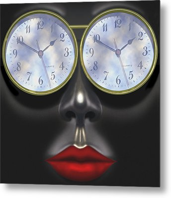 Time In Your Eyes - Sq Metal Print