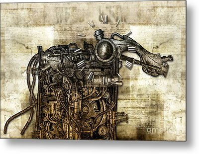 Time Monster Metal Print by Diuno Ashlee