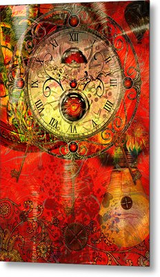 Time Passes Metal Print by Ally  White
