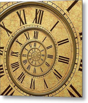 Time Spiral Metal Print