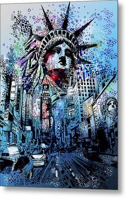 Times Square 2 Metal Print by Bekim Art