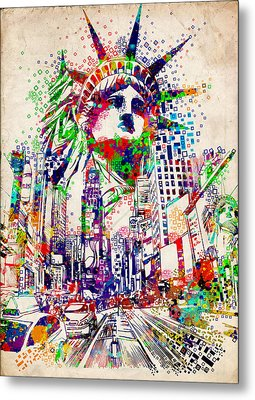 Times Square 3 Metal Print by Bekim Art