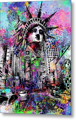Times Square Metal Print by Bekim Art