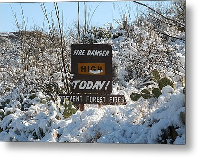 Metal Print featuring the photograph Time To Change The Sign by David S Reynolds