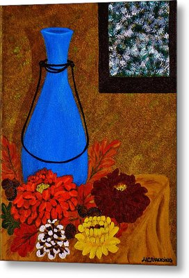 Metal Print featuring the painting Time To Decorate by Celeste Manning
