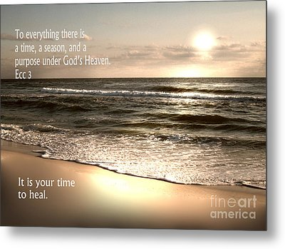 Time To Heal Metal Print by Jeffery Fagan