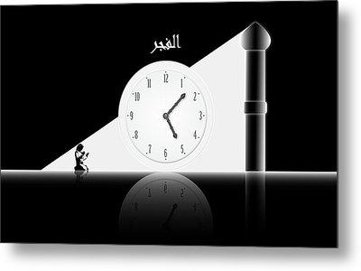 Time To Pray. Al-fajr. Metal Print by Islamic Cards
