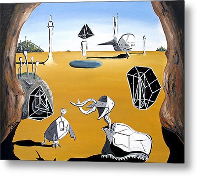 Metal Print featuring the painting Time Travel by Ryan Demaree