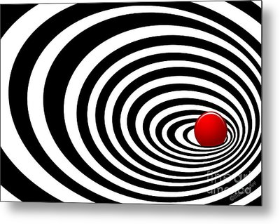 Time Tunnel Op Art Metal Print by Methune Hively