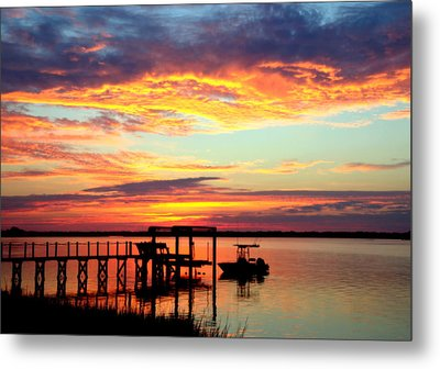 Time Waits For No One Metal Print by Karen Wiles
