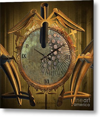 Time Will Move Forward Metal Print by Melissa Messick
