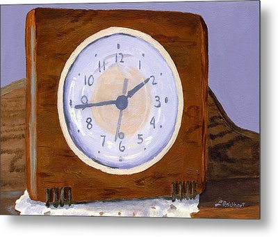 Metal Print featuring the painting Time Will Tell by Lynne Reichhart
