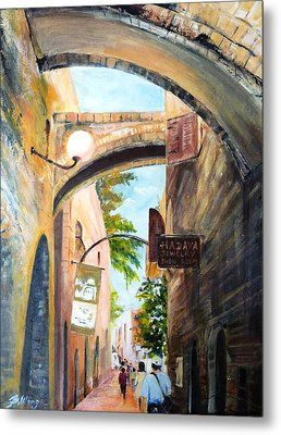 Timeless Alleys Metal Print by Betty M M   Wong