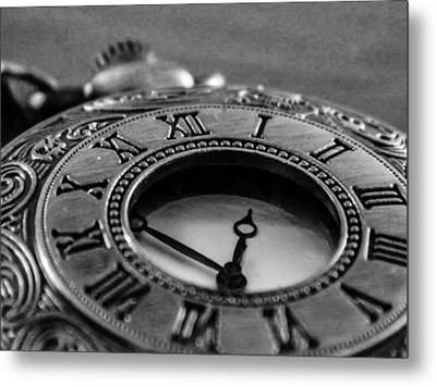 A Vintage Clock - Timeless Metal Print by Andrea Mazzocchetti