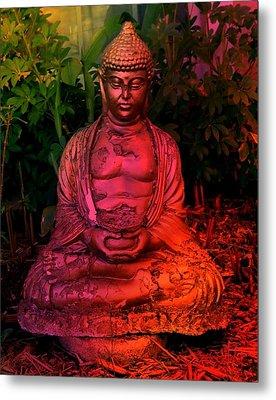 Timeless Buddha Metal Print by Carlos Avila
