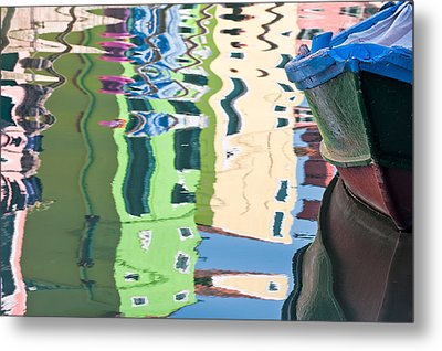Timeless Colors Of Burano Metal Print