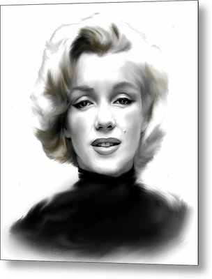 Timeless Marilyn Monroe  Metal Print by Iconic Images Art Gallery David Pucciarelli