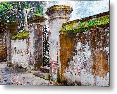 Metal Print featuring the photograph Brick Wall Charleston South Carolina by Vizual Studio