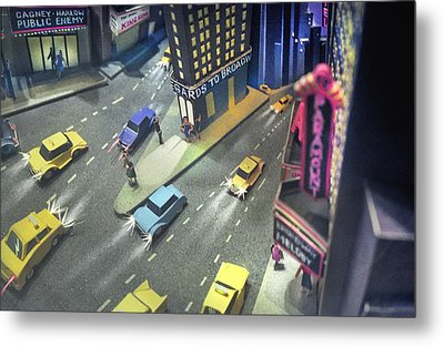 Times Sq. At Night Metal Print
