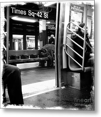 Metal Print featuring the photograph Times Square - 42nd St by James Aiken