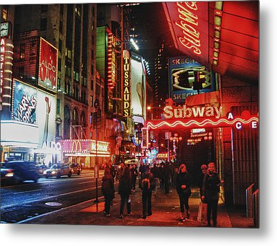 Times Square  Metal Print by Anthony  Myers