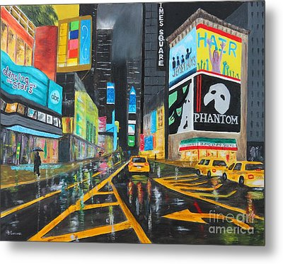 Times Square Metal Print by Bev Conover