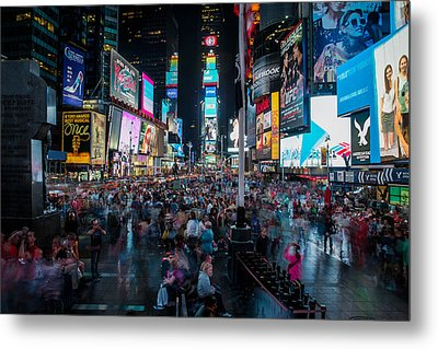 Times Square Metal Print by Chris McKenna