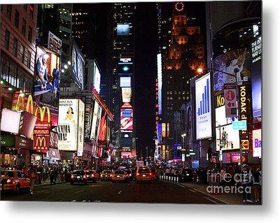 Times Square Colors Metal Print by John Rizzuto