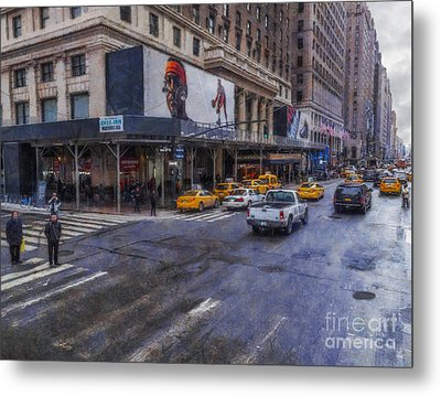Times Square Metal Print by Ian Mitchell