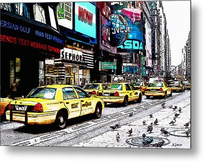Times Square Metal Print by Kai Saarto
