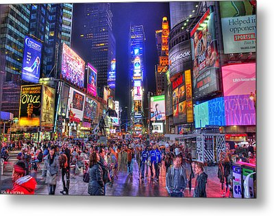 Times Square Metal Print by Kamila  Gornia