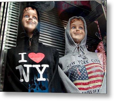 Times Square Kids Metal Print by Ed Weidman