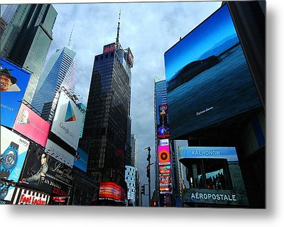 Times Square Metal Print by Linda Edgecomb