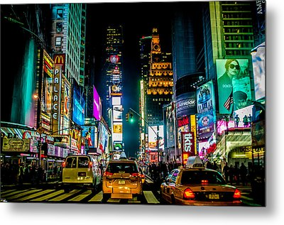 Times Square Nyc Metal Print by Johnny Lam