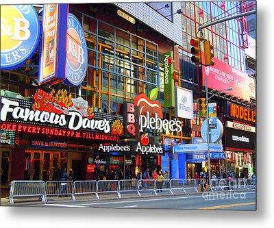 Times Square Razzle Dazzle Metal Print