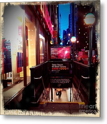 Metal Print featuring the photograph Times Square Station by James Aiken