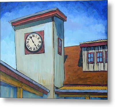 Tin Roof Shed Metal Print by Al Hart