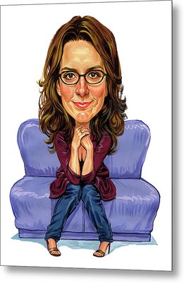Tina Fey Metal Print by Art