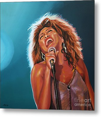 Tina Turner 3 Metal Print by Paul Meijering