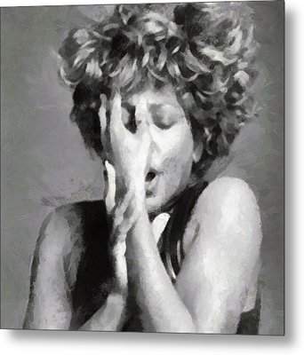 Tina Turner - Emotion Metal Print by Paulette B Wright