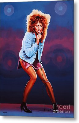 Tina Turner Metal Print by Paul Meijering