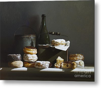 Tins And Donuts Metal Print by Larry Preston