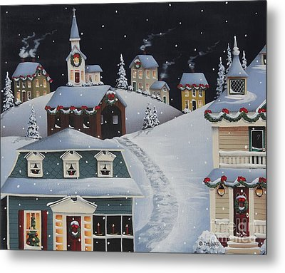 Tinsel Town Christmas Metal Print by Catherine Holman