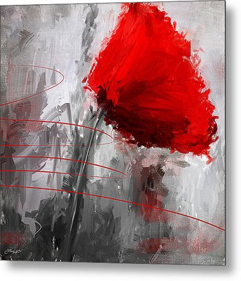 Tint Of Red Metal Print by Lourry Legarde