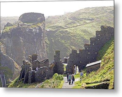 Tintagel Castle Metal Print by Rod Jones