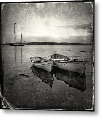 Tintype Boats 3 Metal Print by Fred LeBlanc