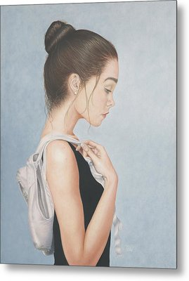 Metal Print featuring the painting Tiny Dancer by Dee Dee  Whittle
